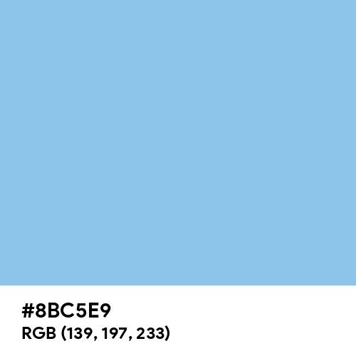 Sky Blue CMYK (Hex code: 8BC5E9) Thumbnail