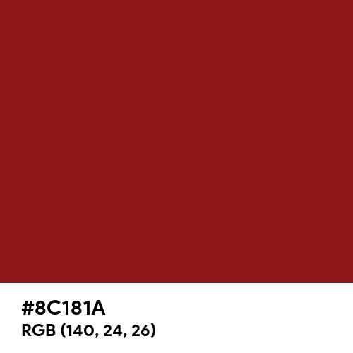 Dark Auburn (Hex code: 8C181A) Thumbnail
