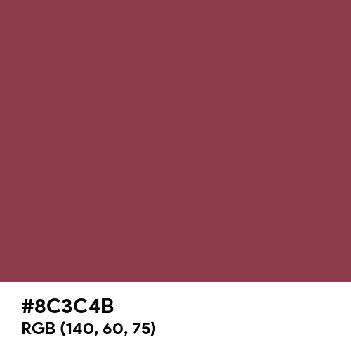 Red Violet (RAL) (Hex code: 8C3C4B) Thumbnail