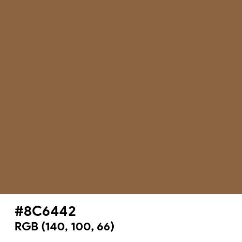 Raw Umber (Hex code: 8C6442) Thumbnail