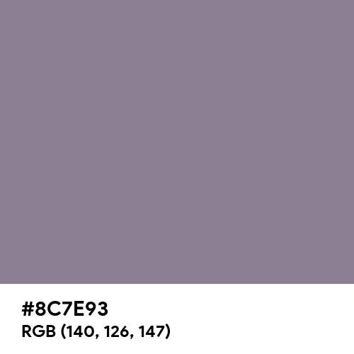 Taupe Gray (Hex code: 8C7E93) Thumbnail