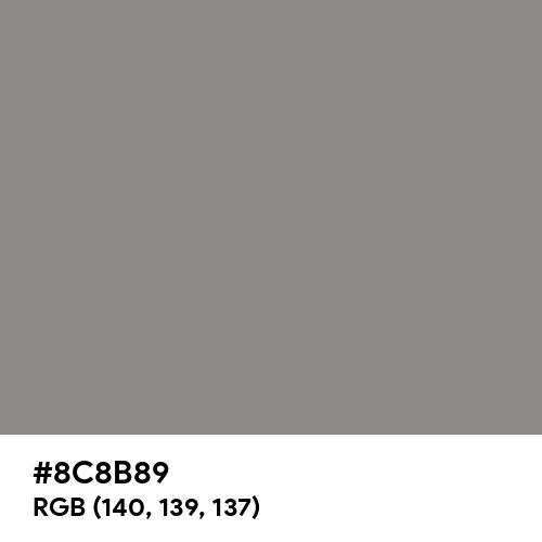 Philippine Gray (Hex code: 8C8B89) Thumbnail