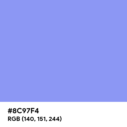 Light Cobalt Blue (Hex code: 8C97F4) Thumbnail