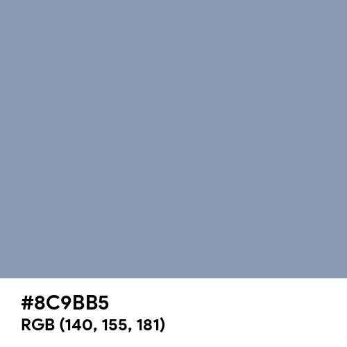 Neutral Light Blue (Hex code: 8C9BB5) Thumbnail