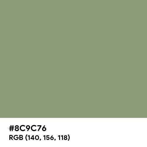 薄青 (Usuao) (Hex code: 8C9C76) Thumbnail