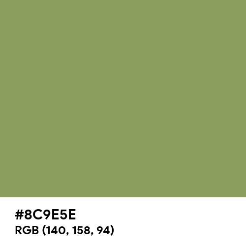 柳染 (Yanagizome) (Hex code: 8C9E5E) Thumbnail