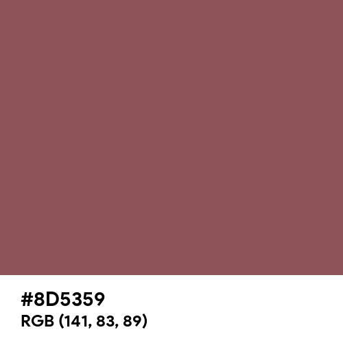 Rose Taupe (Hex code: 8D5359) Thumbnail