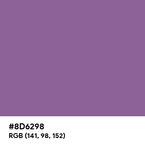 Calm Purple (Hex code: 8D6298) Thumbnail