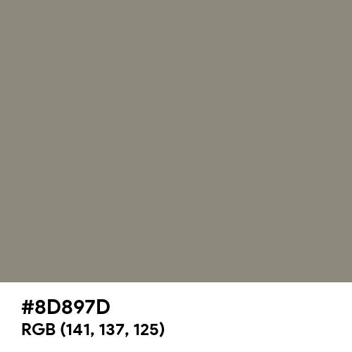 Middle Grey (Hex code: 8D897D) Thumbnail