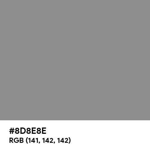 Philippine Gray (Hex code: 8D8E8E) Thumbnail
