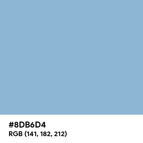 Dark Sky Blue (Hex code: 8DB6D4) Thumbnail