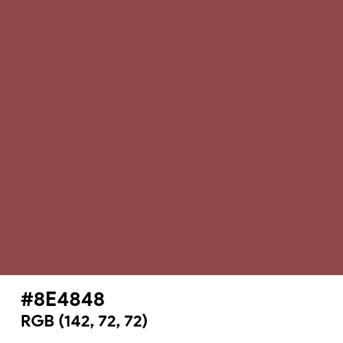 Cordovan (Hex code: 8E4848) Thumbnail