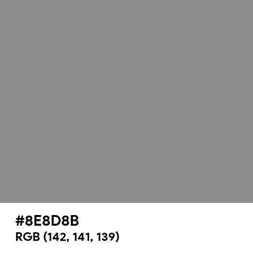 Philippine Gray (Hex code: 8E8D8B) Thumbnail
