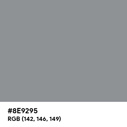 Telegrey 1 (RAL) (Hex code: 8E9295) Thumbnail