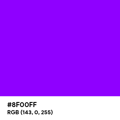 Electric Violet (Hex code: 8F00FF) Thumbnail