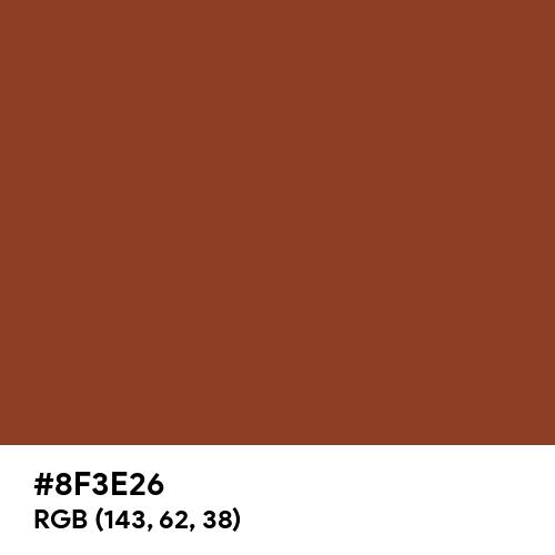 Pearl Orange (Hex code: 8F3E26) Thumbnail