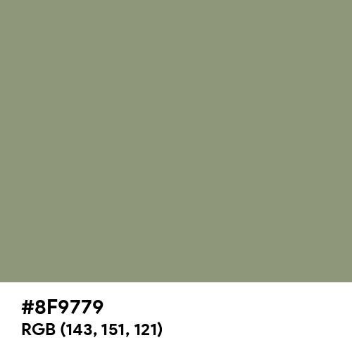 Artichoke (Hex code: 8F9779) Thumbnail