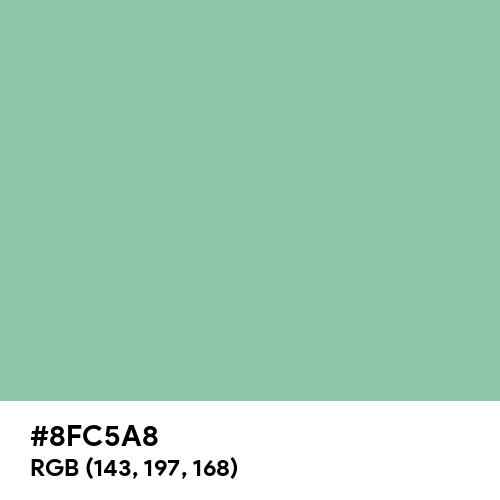 Eton Blue (Hex code: 8FC5A8) Thumbnail