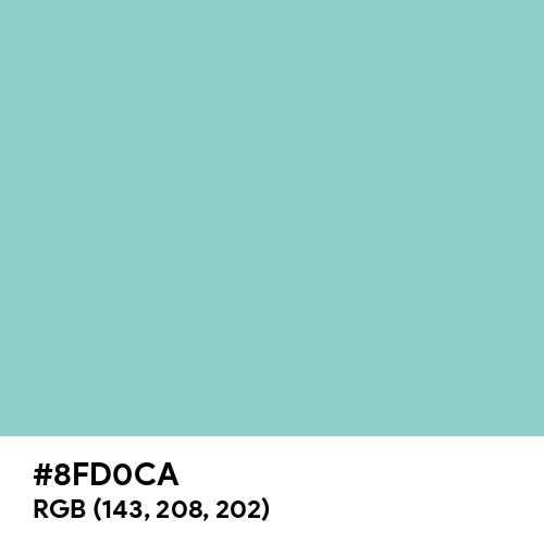 Middle Blue Green (Hex code: 8FD0CA) Thumbnail