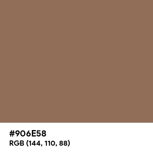Mushroom Brown (Hex code: 906E58) Thumbnail
