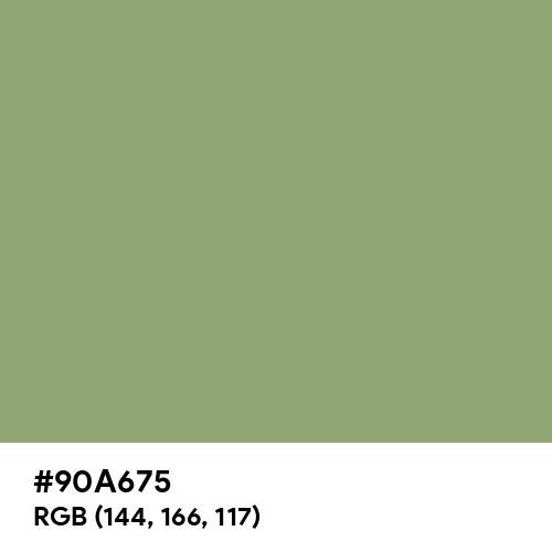 Asparagus (Hex code: 90A675) Thumbnail