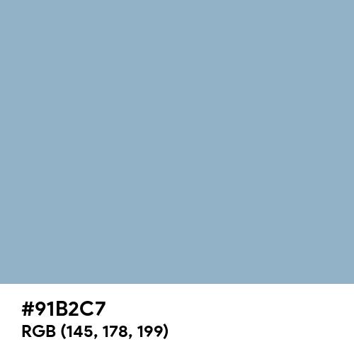 Relaxing Blue (Hex code: 91B2C7) Thumbnail