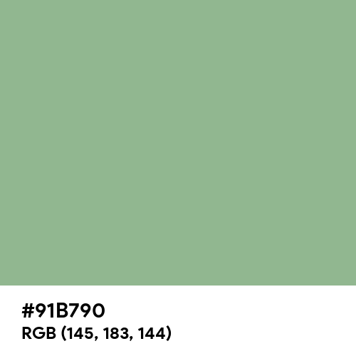 Dark Sea Green (Hex code: 91B790) Thumbnail