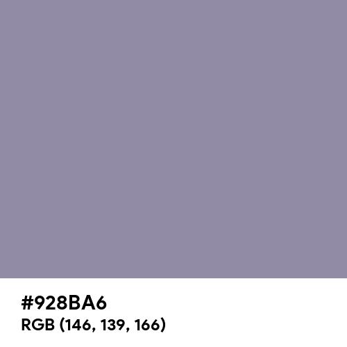 Antique Viola (Hex code: 928BA6) Thumbnail