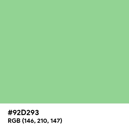 Relaxing Green (Hex code: 92D293) Thumbnail