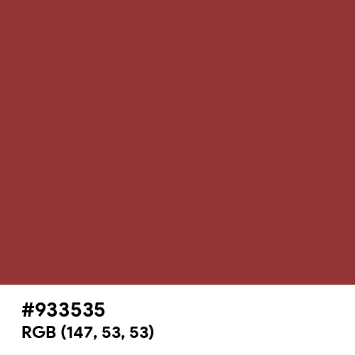 Red-Violet (Color Wheel) (Hex code: 933535) Thumbnail