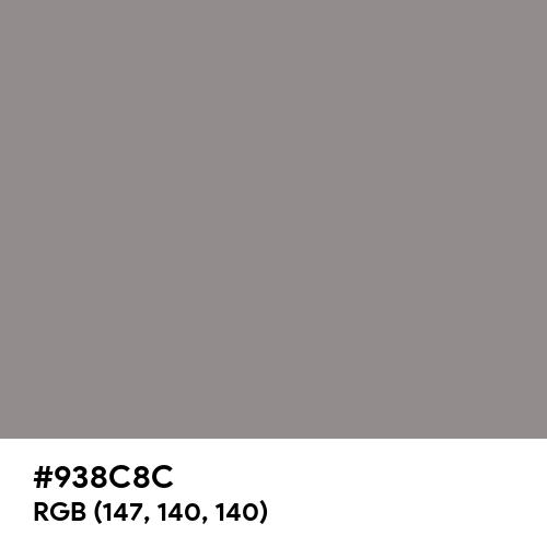 Philippine Gray (Hex code: 938C8C) Thumbnail
