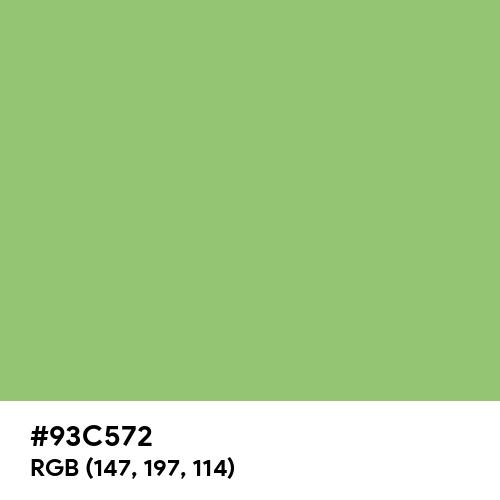 Pistachio (Hex code: 93C572) Thumbnail