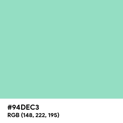Pale Jade (Hex code: 94DEC3) Thumbnail