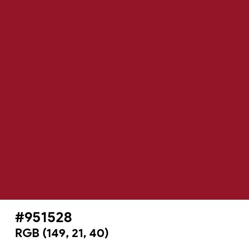 Savvy Red (Hex code: 951528) Thumbnail