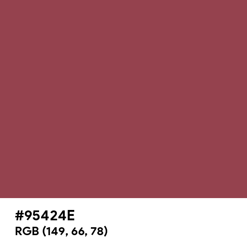 Earth Red (Pantone) (Hex code: 95424E) Thumbnail