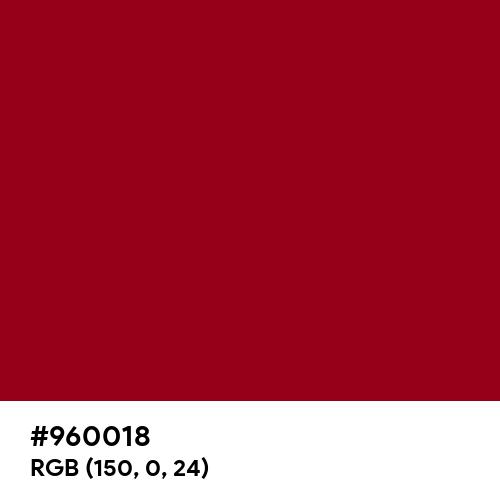 Carmine (Hex code: 960018) Thumbnail