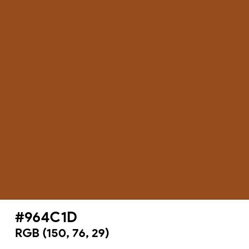 Rich Brown (Hex code: 964C1D) Thumbnail