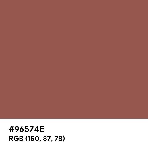 Light Chestnut (Hex code: 96574E) Thumbnail