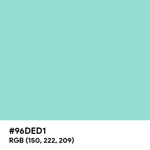 Pale Robin Egg Blue (Hex code: 96DED1) Thumbnail