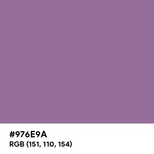 Mountbatten Pink (Hex code: 976E9A) Thumbnail