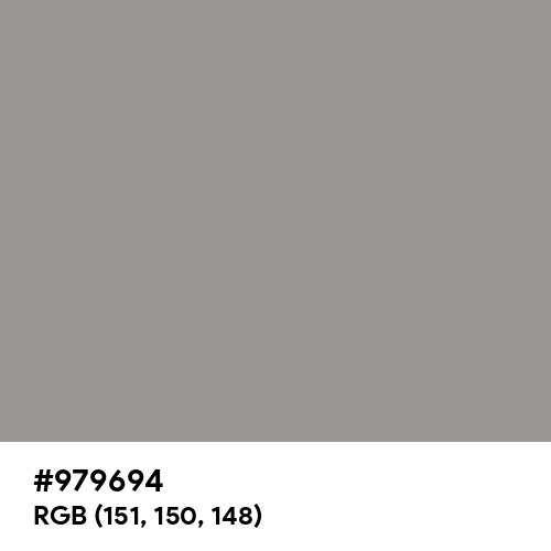 Spanish Gray (Hex code: 979694) Thumbnail
