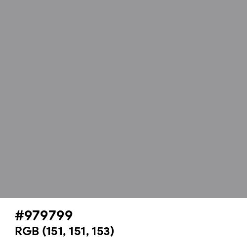 Formal Gray (Hex code: 979799) Thumbnail