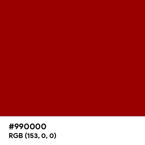 Penn Red (Hex code: 990000) Thumbnail