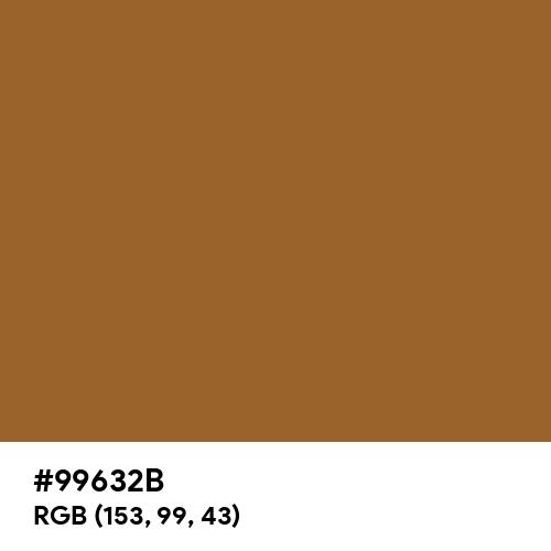 Ochre Brown (Hex code: 99632B) Thumbnail