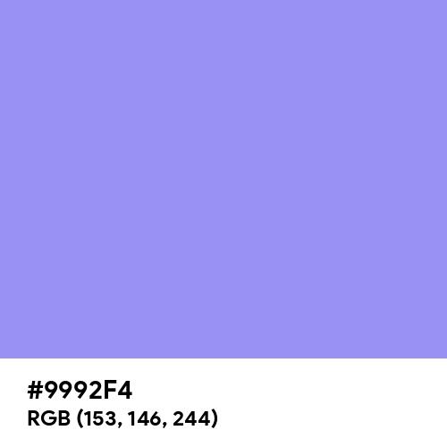 Maximum Blue Purple (Hex code: 9992F4) Thumbnail