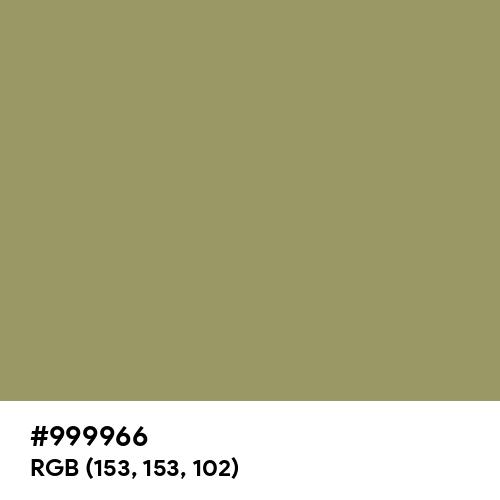 Moss Green (Hex code: 999966) Thumbnail