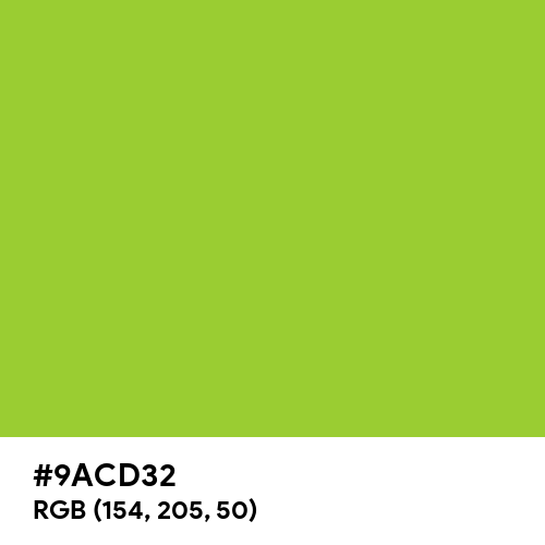 Yellow Green (Hex code: 9ACD32) Thumbnail
