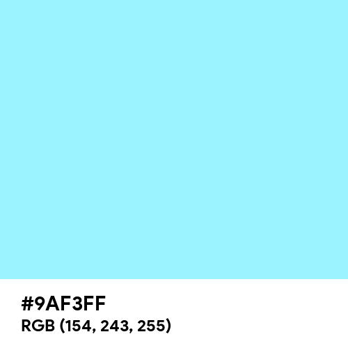 Neon Powder Blue (Hex code: 9AF3FF) Thumbnail