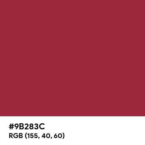 Valient Red (Pantone) (Hex code: 9B283C) Thumbnail