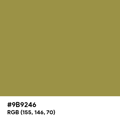 Lettuce Green (Hex code: 9B9246) Thumbnail